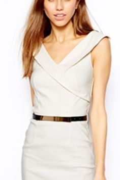 25 Gorgeous Wedding Reception Dresses Under $150:  #23. Pointed Collar Dress