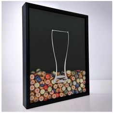 There are so many reasons to love Beer Cap Shadow Box: Prevents bottle caps from filling up landfills. Enables you to commemorate all of the awesome beers you've tried. Makes your home bar look cool and is a great conversation piece.