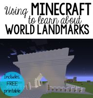 #FREE World Landmarks with Minecraft Learn about world landmarks by recreating them in Minecraft!