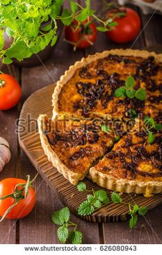 Delish quiche onion, food stylid photo, delish taste, ready for your advertisment
