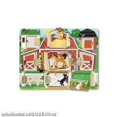 Melissa & Doug Hide and Seek Farm Wooden Activity Board With Barnyard Animal Magnets - Most Wanted Christmas Toys The Barnyard, Barnyard Animals, Toddler Toys, Kids Toys, Baby Toys, Latch Board, Sports Games For Kids, Developmental Toys, Melissa & Doug