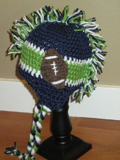 ADULT Team Inspired MOHAWK Football Hats by ThatsSewYarnCute