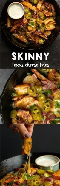 Skinny Texas Cheese Fries are the ultimate snack food that you don't have to feel guilty about.