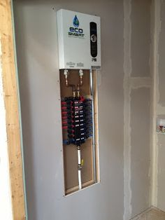 Install of a pex manifold with a rinnai tankless water for Pex water pipe insulation