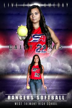 player banner photo template electric storm volleyball player