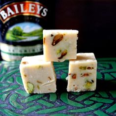Yeah, we know I'm never going to make it- but dayum it sounds good.   Bailey's Irish Cream and Pistachio Fudge