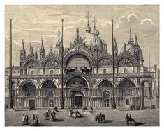 025-Catedral de San Marcos en Venecia-Italian pictures dra… | Flickr Pens And Pencils, Vintage Drawing, Pictures To Draw, Barcelona Cathedral, Explore, Drawings, Photography, Venice, Photograph