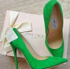 Green Jimmy Choos that make me swoon over their color. I could never wear the heel height, but I can admire from afar.