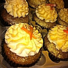 24 Carrot Gold Cupcakes