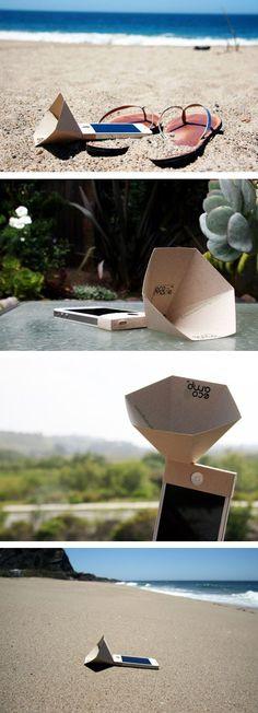 Eco-amp: Un amplificador #ecológico y reciclabe para iphone por The American brand Eco-made.