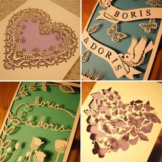 Laser Cut cards/invitations! via Glendalough Manor Bride Blog