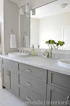Like the grey cabinets