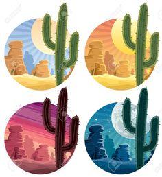 cactus del desierto dibujo - Buscar con Google