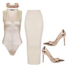 """Rose Gold x Nude"" by hautecoutureblvd on Polyvore featuring River Island and Topshop"