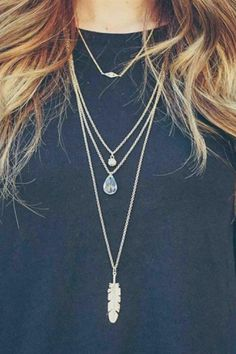 """Get in fashion when you wear this Boho style necklace! Color: Gold, Silver, Burnish Gold, Burnish Silver Material: Base Metal, Clear Stone Closure: Lobster Clasp Measurement: 3"""" Extender, 21"""" Chain Le"""