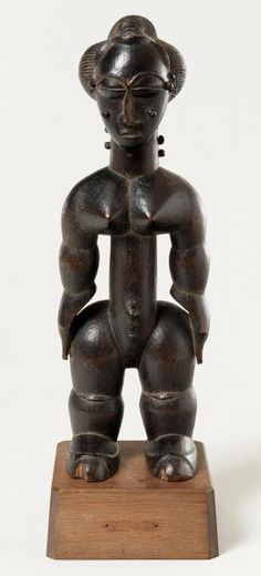 Barnes Foundation African Art | Lagoons (Ebrie) peoples - Female Figure (Nkpasopi)