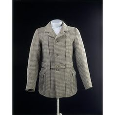 1890-1900 : Great Britain : Norfolk jacket and neck piece, Tweed with sateen and cotton lining, horn, hand-and maschine-sewn| V Search the Collections
