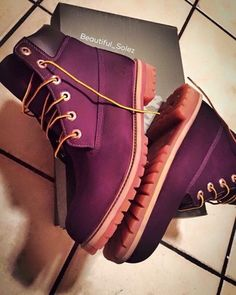 shoes plum burgundy timberland boots pink boots timberlands combat boots