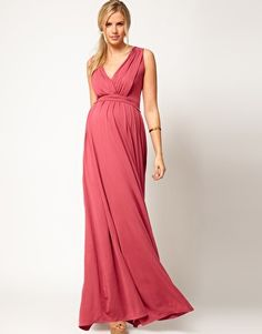 darrens wedding?  ASOS Maternity Exclusive Maxi Dress In Grecian Drape