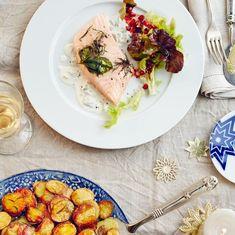 Kräuter-Lachsfilet mit Anna-Kartoffeln
