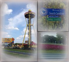 South of the Border is a rest stop and roadside attraction on Interstate 95 and US Highway 301/501 between Dillon, South Carolina and Rowland, North Carolina.