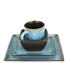 Look at this #zulilyfind! Blue Haus Square 16-Piece Dinnerware Set #zulilyfinds