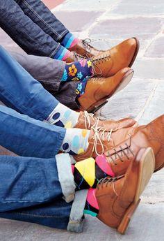 Happy Socks - Mens Fashion - Get Happy. Liven up your look with unexpected color. Happy Socks - Mens Fashion - Get Happy. Funky Socks, Crazy Socks, Colorful Socks, Der Gentleman, Moda Blog, Happy Socks, Dress Socks, Fashion Moda, Fashion Fashion