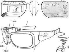 Microsoft Glasses - Patent Illustration. Not yet here but our second screen of the future?