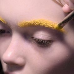 pastel yellow brows