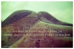 Mein Papa sagt...  Den größten Fehler, den man im Leben machen kann, ist, immer Angst zu haben, einen Fehler zu machen. Dietrich Bonhoeffer   #Zitate #deutsch #quotes      Weisheiten & Zitate TÄGLICH NEU auf www.MeinPapasagt.de