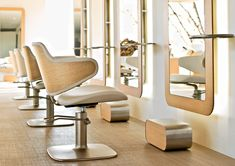hair studio design | the warmth of the wood gives a domestic feel to the salon