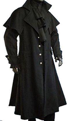 Dark Dreams Gothic Mittelalter LARP Mantel Vampir Kutscher Coat Jacke van Helsing schwarz (Achtung fällt eine Nummer kleiner als üblich aus!), Größe:M;Farbe:schwarz IM. http://www.amazon.de/dp/B013PCD7J0/ref=cm_sw_r_pi_dp_E.i1wb0GSDARY