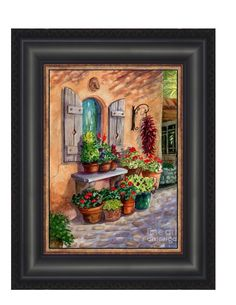 """Tia Rosa's Place"" framed canvas print"