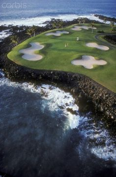 Hawaii - Francis I'i Brown Golf Course - 15Th Hole - We call the 15th sand trap heaven, some call it oh no, not this hole. ......