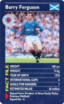 2001 Top Trumps Rangers #NNO Barry Ferguson Front Football Tops, Football Players, Trump Card, Rangers Fc, Top Trumps, Trading Card Database, Glasgow, Brave, Scotland