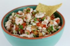 Shrimp ceviche!  also add in some chopped up cucumbers and avocados.   I would eat this all summer long, breakfast, lunch, and dinner.