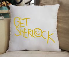 """14x14"""" Fan Pillow Inspired by Sherlock Super awesome & cuddly fan-pillow! Features: - 100% Polyester - Machine washable"""