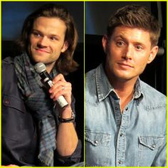 Jared Padalecki and Jensen Ackles answer questions at a convention for their show Supernatural on Saturday  at the Rio Hotel & Casino in Las Vegas.