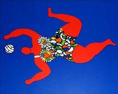 Niki de Saint Phalle Niki DE SAINT PHALLE Volleyball Reproduction Fine Art
