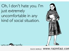 OH..I DON'T HATE YOU..I'M JUST ...