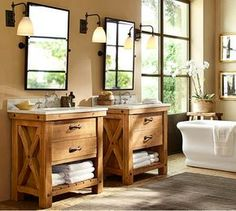 Pottery Barn Bathrooms Ideas this is not the pottery barn benchwright vanity. and it does not
