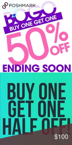 THIS WEEKEND!! Buy One GET One 50% Off EVERYTHING! Just add two items to a bundle (or more) & I will figure the discount & send you an offer! Its as simple at THAT!  My Sale runs until Sunday Night (Easter Sunday) & then it goes bye-bye so don't miss out!  I have over 700 active listings & LOTS of Designer items to choose from. Have fun shopping!! ~*Gothess*~ Other