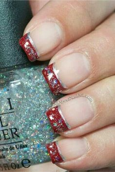 Needs an accent nail...all red with the glitter