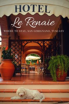 Italy - Hotel Le Renaie is a lovely hotel just minutes away from popular San Gimignano in Tuscany. Where to stay in Tuscany, Italy hotels, Italy vacation. San Gimignano hotels, Tuscany hotels.