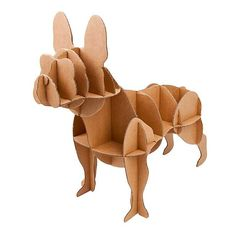 'French Bulldog ' Cardboard Dog Storage by TheLittleBoysRoom, the perfect gift for Explore more unique gifts in our curated marketplace. Dog Storage, Drill Brush, 3d Puzzles, Recycling Bins, Everyday Objects, Scroll Saw, Pretty And Cute, Svg Cuts, French Bulldog