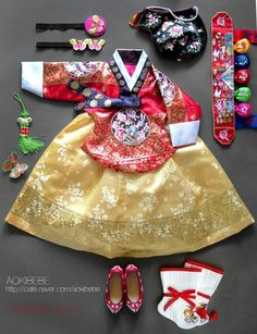 So cute year hanbok Korean Traditional Dress, Traditional Fashion, Traditional Dresses, Korean Dress, Korean Outfits, Modern Hanbok, Korean Design, Cosmetic Treatments, Korean Wedding