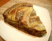 Torta de banana com aveia