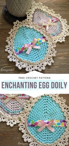 These crochet doilies will enchant you with their beauty and retro style. Are you in the mood for Easter motifs and floral inspirations? Easter Crochet Patterns, Crochet Bunny, Diy Crochet, Crochet Doilies, Crochet Flowers, Crochet Ideas, Easter Projects, Easter Crafts, Form Crochet