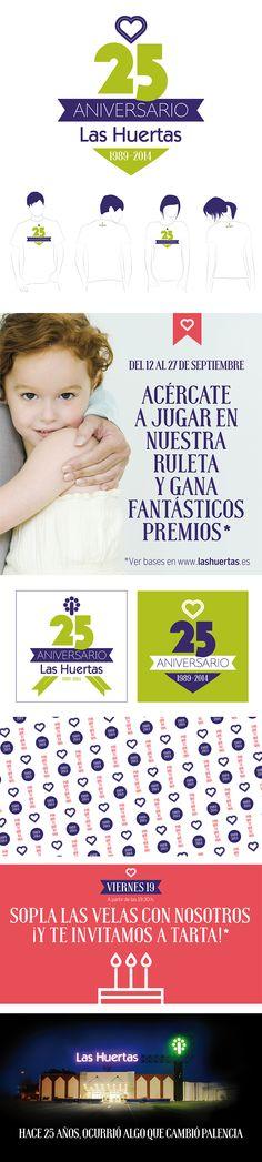Campaña para el Centro Comercial Las Huertas, 25 aniversario.