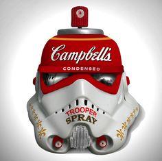Mr. Brain Wash Posters | Art Wars, Famous Artists Redesign 'Star Wars' Stormtrooper Helmets